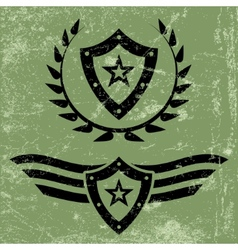 Military style grunge emblems vector