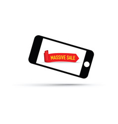 mobile phone massive sale background vector image