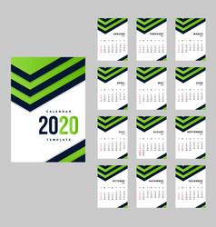modern corporate calendar a4 background template vector image