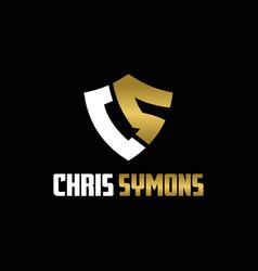 monogram letter cs logo vector image