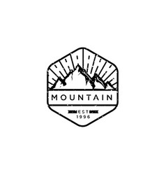 mountain adventure badges vector image