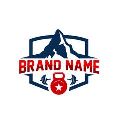 mountain sports logo vector image