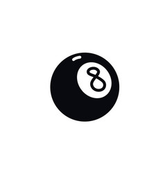 number eight billiard ball icon a magic ball vector image