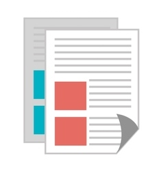Office notepad or document vector