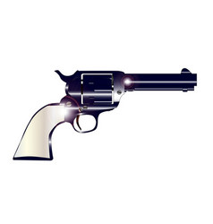 Pearl handled revolver vector