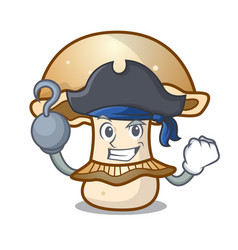 Pirate portobello mushroom character cartoon vector
