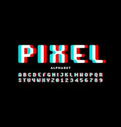 Pixel style font vector
