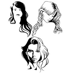 portraits of beautiful women vector image