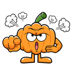 Pumpkin character flare up halloween day isolated vector