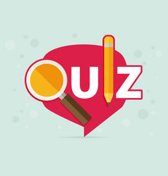 quiz related concept vector image