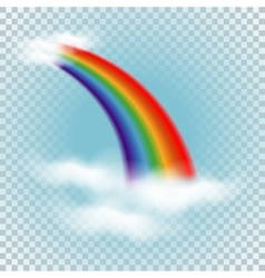 Rainbow in clouds vector