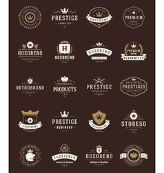 Retro Vintage Premium Quality Labels vector image