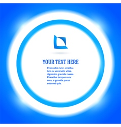 Round frame your message bright blue background vector