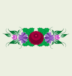 Russian traditional floral ornament vector