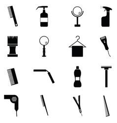 Salon icon set vector