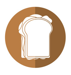 sandwich tasty food shadow vector image