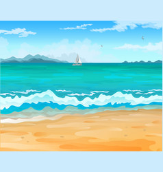 sea beach vector image
