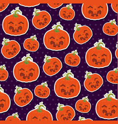 seamless pattern for happy halloween vector image