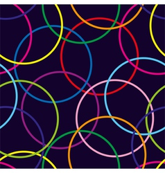 Seamless pattern with color circle vector image