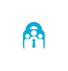 Security human lock icon logo design element vector