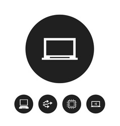 set of 5 editable computer icons includes symbols vector image