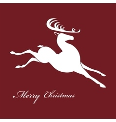 Silhouette of Christmas deer vector