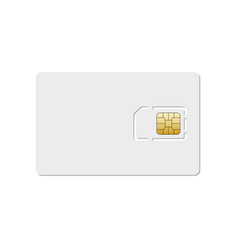 Sim card mobile phone icon chip simcard vector