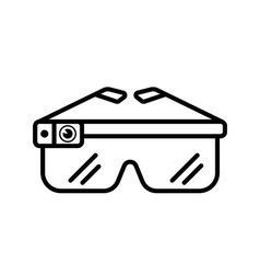 Smart glasses outline Icon vector