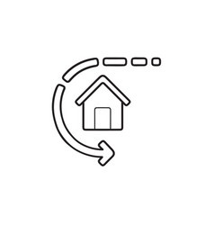 smart home automation hand drawn outline doodle vector image