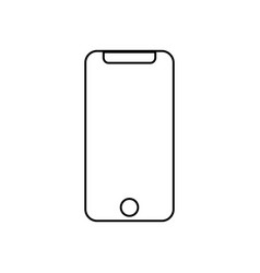 smartphone simple icon with shadow vector image