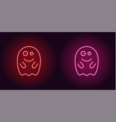 Soaring neon spirit in red and pink color vector