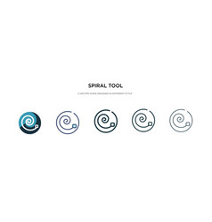 Spiral tool icon in different style two colored vector