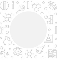 square with chemistry icons vector image