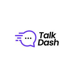 talk dash logo icon vector image