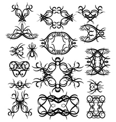 tattoo Tribal element set vector image