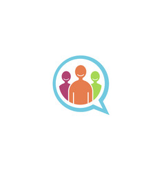 team talk people chat bubble logo vector image