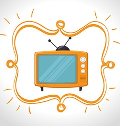 Television entertainment graphic vector