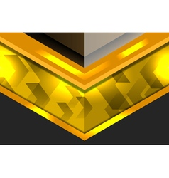 Template geometric gold background vector
