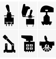Toggle switches vector image