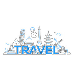 Travel - line travel vector