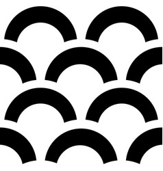 Trendy pattern black and white background vector