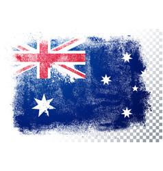 Vintage grunge texture flag australia vector