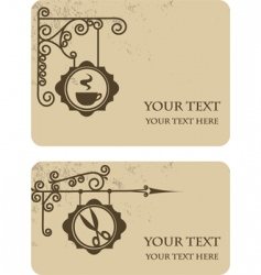 vintage shop cards vector image
