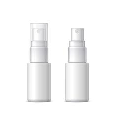 White plastic bottle can sprayer vector image