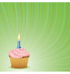 birthday green background vector image