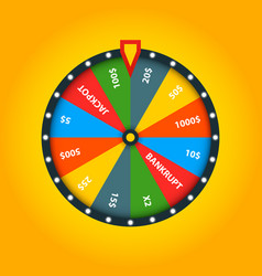 color fortune wheel lucky roulette vector image