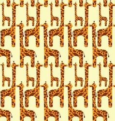 Giraffe Seamless Pattern vector image vector image