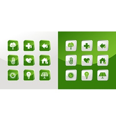 Go Green icons set vector image