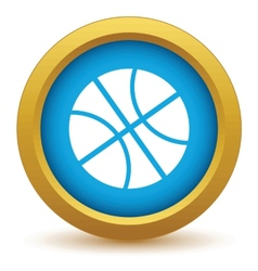 Gold basketball icon vector image