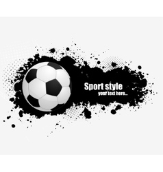 Grunge banner with soccer ball vector image vector image